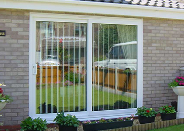 Inline patio doors